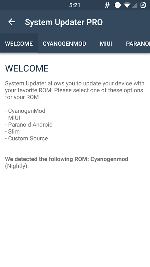 System Updater PRO Screenshot 0