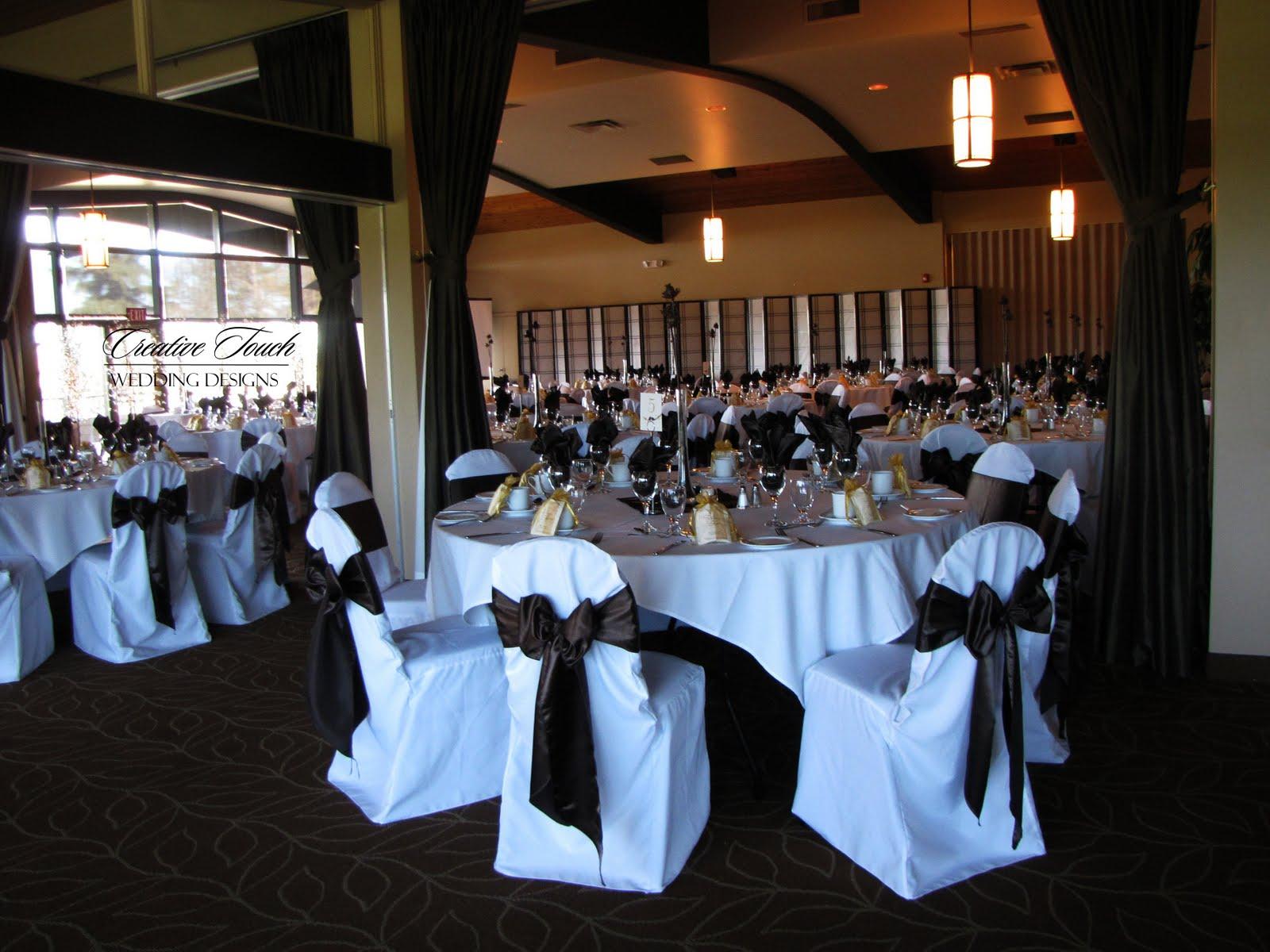 set up wedding decor that