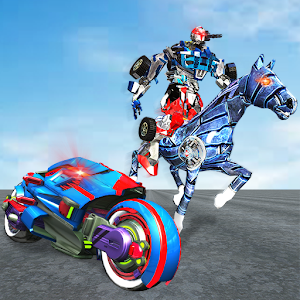 US Police Horse Robot Bike Transform Wild Cop Game For PC (Windows & MAC)