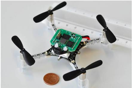 Boffins build smallest drone to fly itself with AI