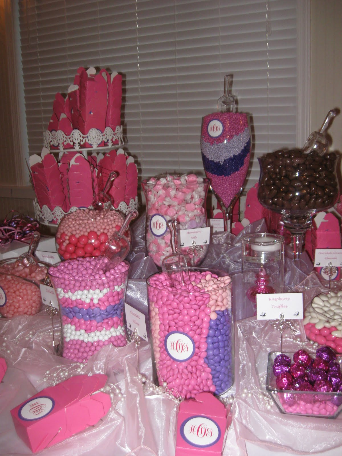 wedding reception candy bar
