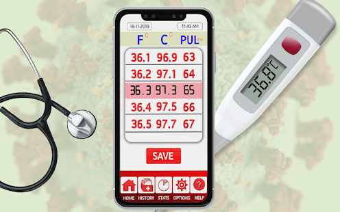 Body Temperature Checker : Fever Tracker Diary App