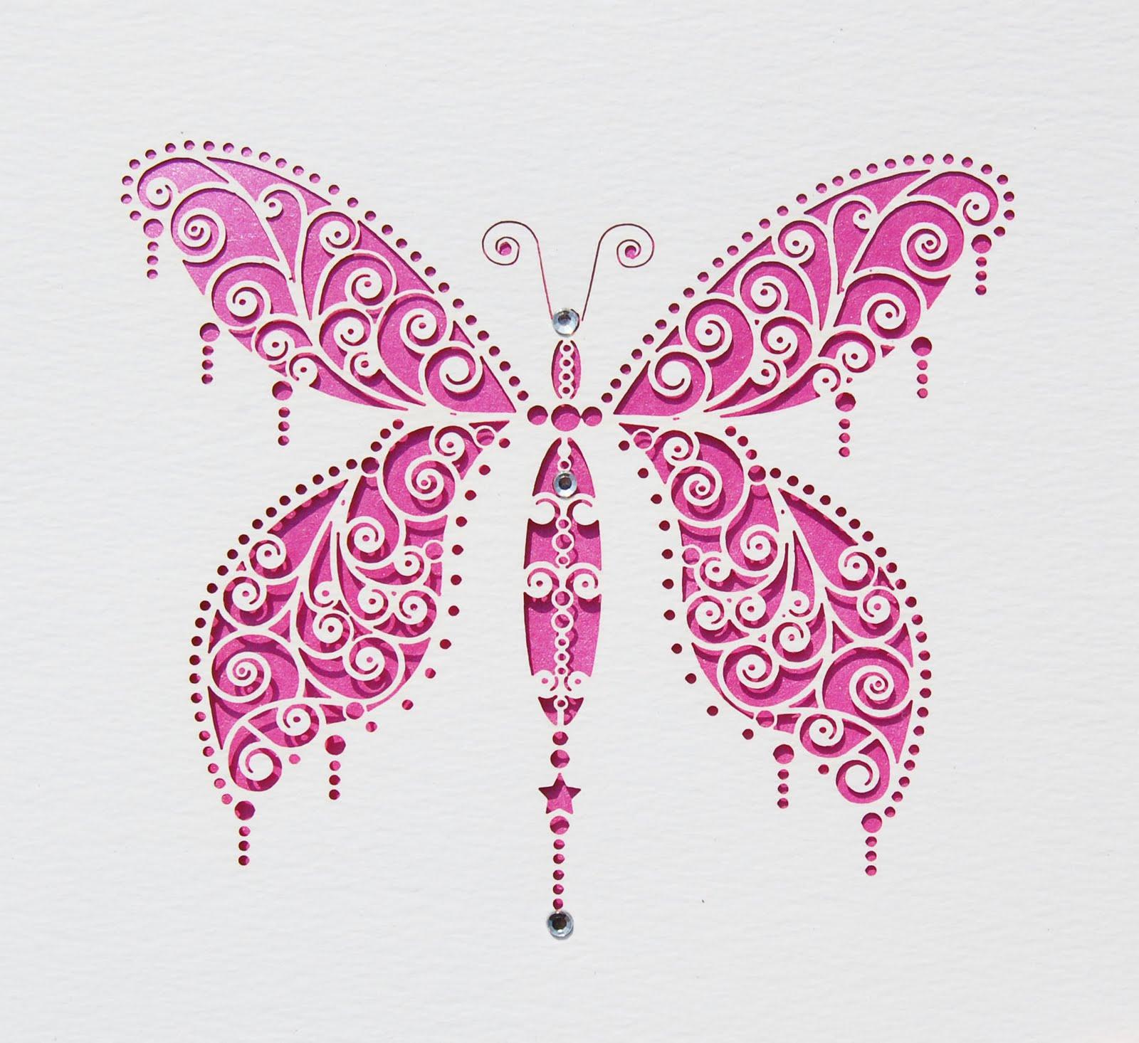 Laser-cut Butterfly Invitation