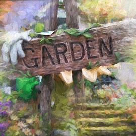 My Garden by Millieanne T - Digital Art Places