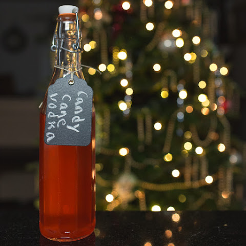 Homemade DIY Candy Cane Vodka