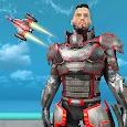 Flying Superhero Robot Game