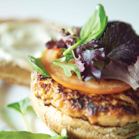 Hoisin Salmon Burger with Ginger Aioli