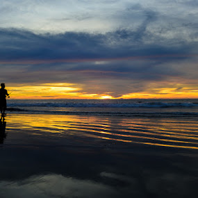 fishing is my life by Cuandi Kuo - Landscapes Sunsets & Sunrises