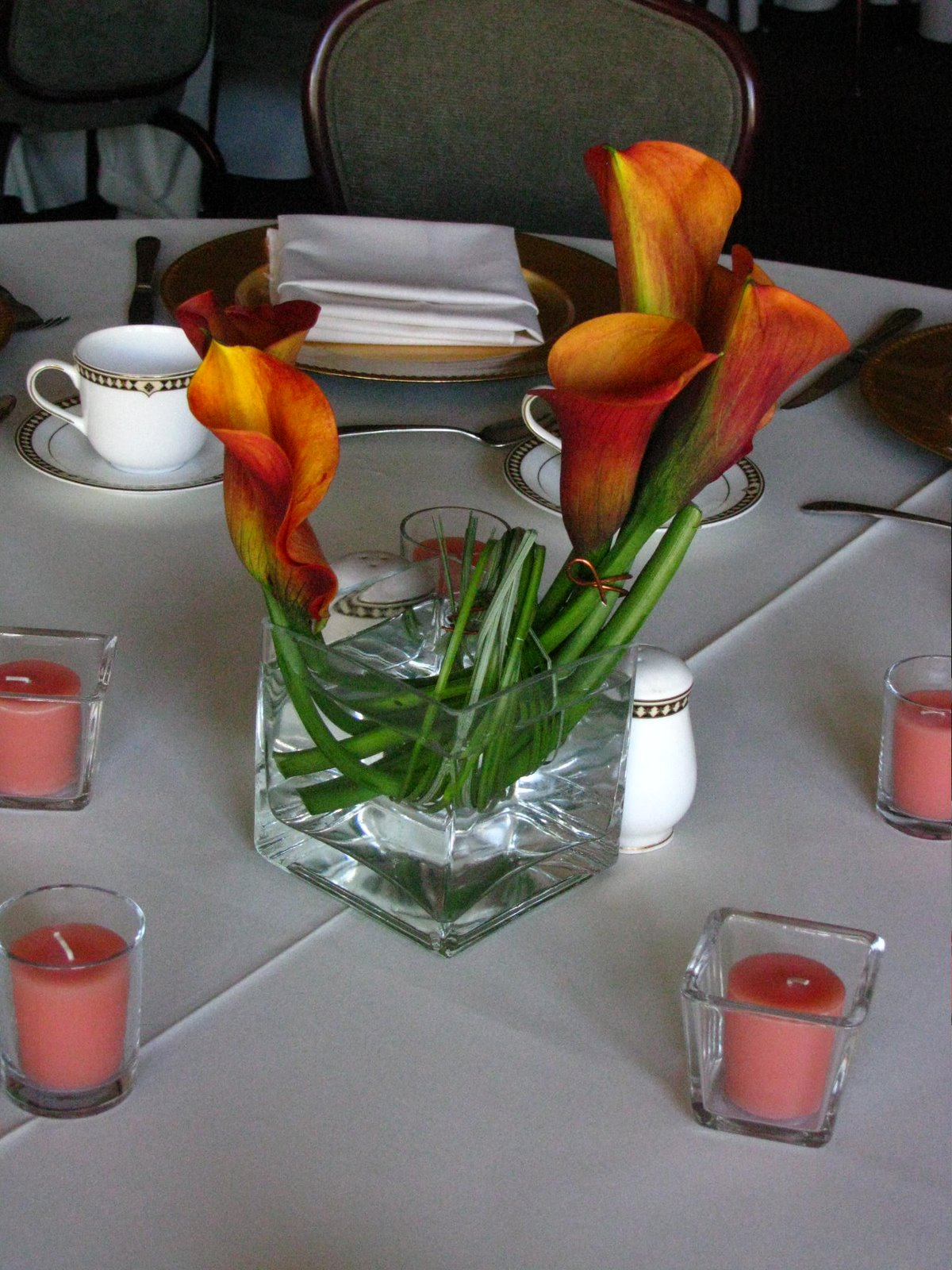 calla lily centerpieces for