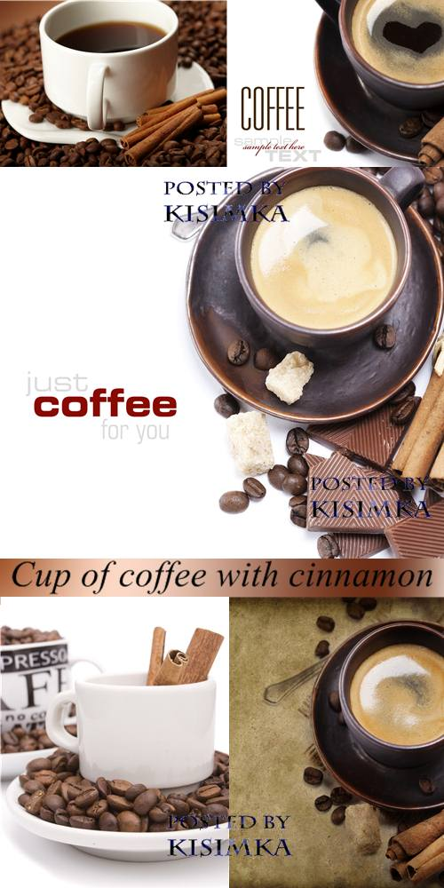 Stock Photo: Cup of coffee with cinnamon
