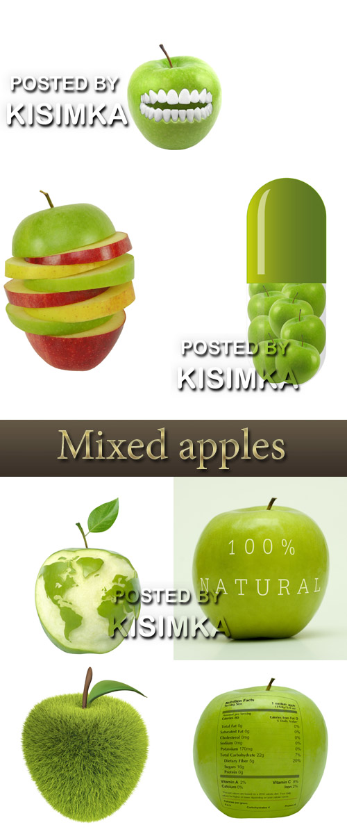 Stock Photo:Mixed apples