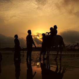 Reflection on Beach by Soumyadip Dey - People Street & Candids