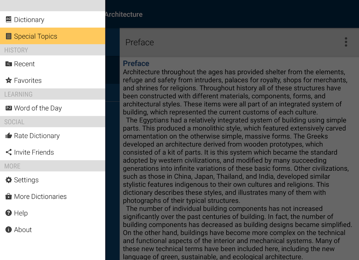 Dictionary of Architecture Screenshot 14