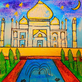 Taj Mahal a monument to love by Vijay Govender - Painting All Painting