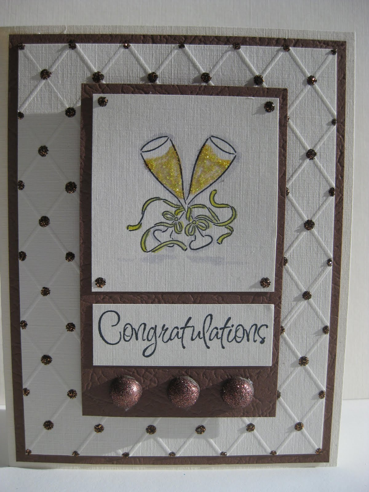 Brown and Ivory Wedding Card