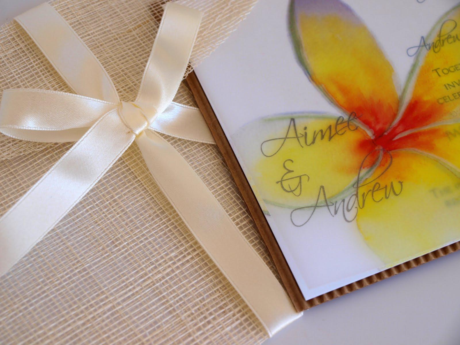 Hawaiian Wedding Invitation