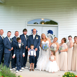 Silly faces by Julia Pegler - Wedding Groups ( silly, bridal party, wedding, bride, groom )