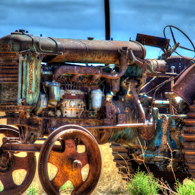 Old Tractor just out from Dublin.... by Diane Flynn - Transportation Other (  )