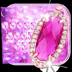 Pink Diamond Glitter Keyboard For PC