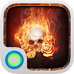 The Flame Skull Hola Theme 3.0 Apk