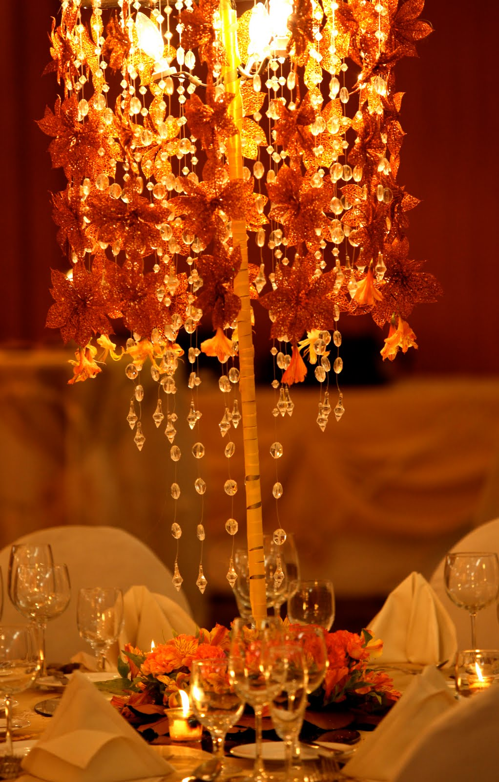 Twig Centerpiece: Fall Wedding