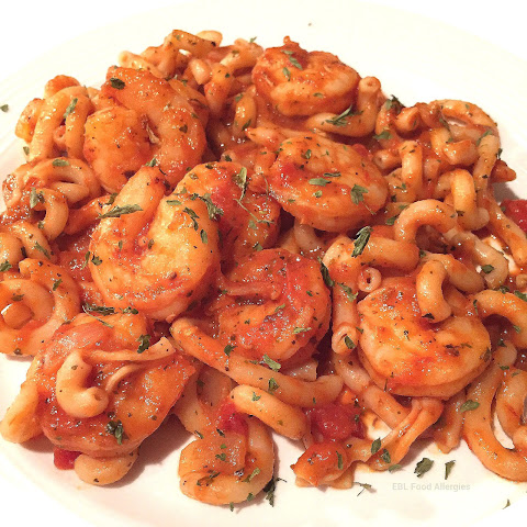 "Shrimp Pasta in a Tomato ""Cream"" Sauce"