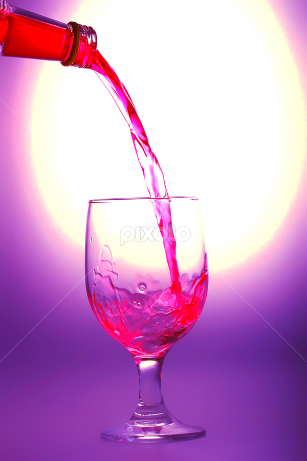 Let's Drunk...! by Ismed  Hasibuan  - Food & Drink Alcohol & Drinks ( wine, red, alcohol, drink, glass )