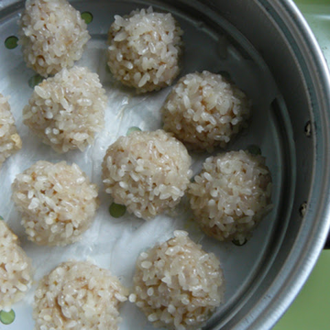 Chinese Steamed Pearl Balls