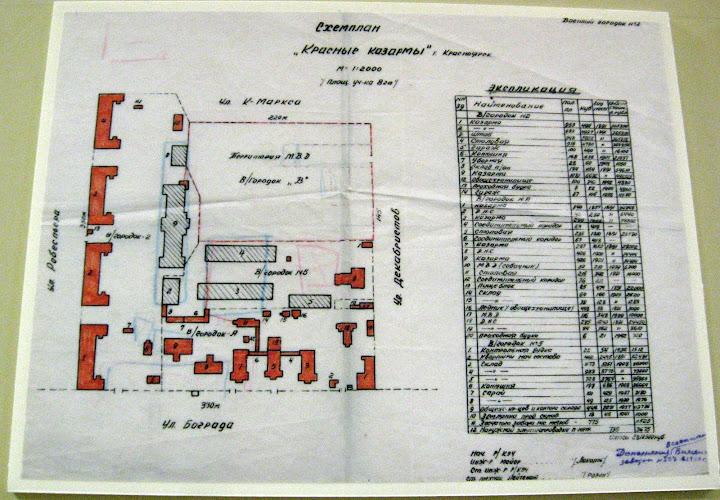 Схема караульных городков