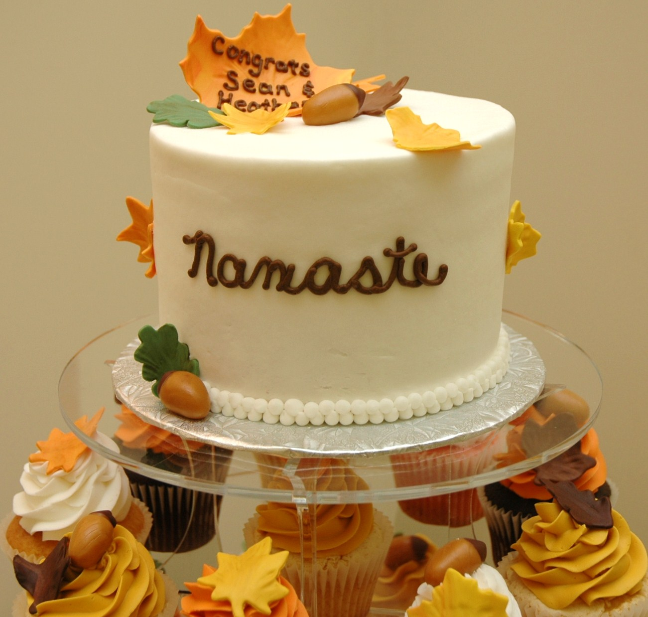 Autumn Wedding Cake and