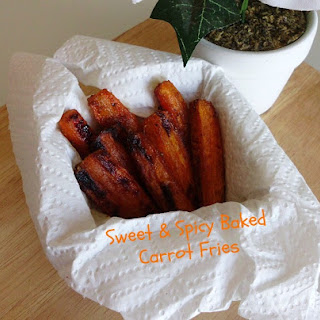 Sweet & Spicy Baked Carrot Fries