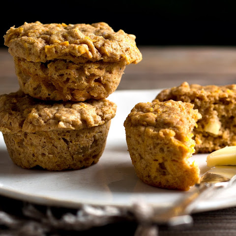 Butternut Squash Oat Muffins With Candied Ginger