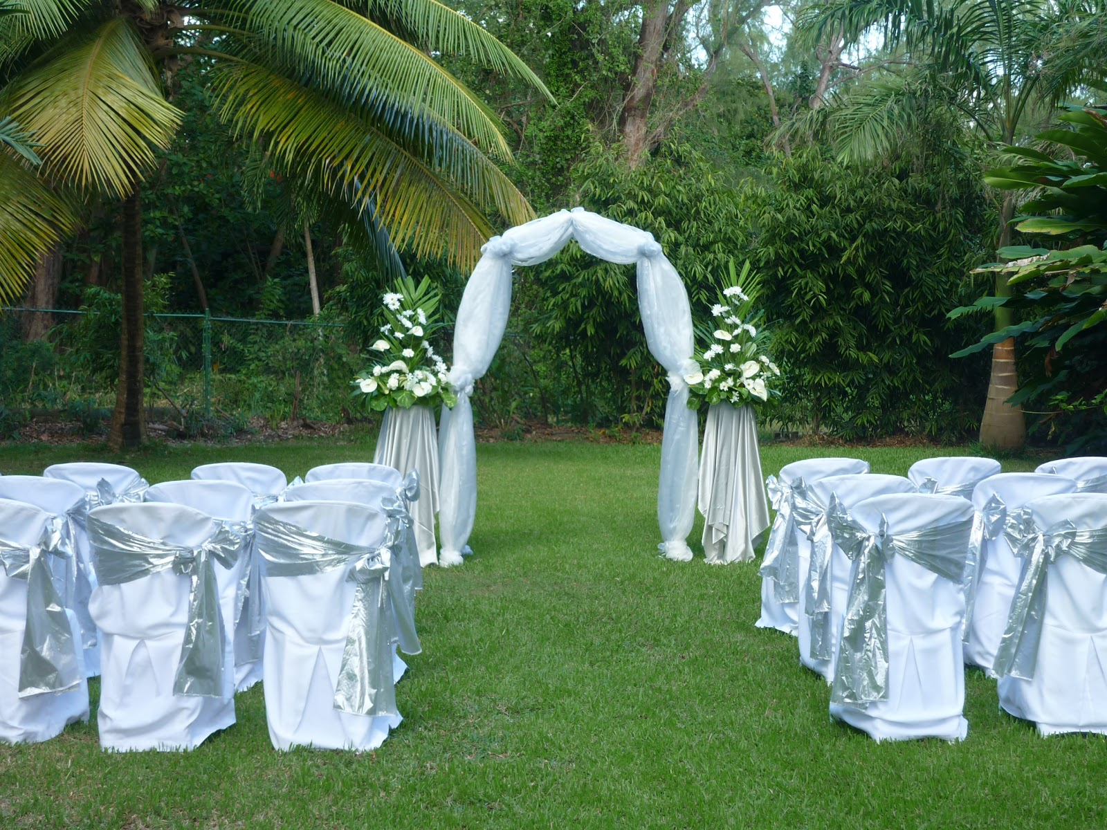 Intimate Garden Wedding Set up
