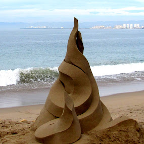 Sand Sculpture by Vonelle Swanson - Artistic Objects Other Objects ( water, sculpture, sand, mexico, pacific ocean, puerto vallarta )