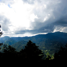 Cloudy Mountains by Aamir Soomro - Novices Only Landscapes ( clouds, murree, pakistan, mountains, punjab, blue, green )