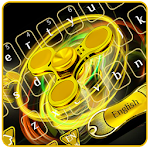 Golden Fidget Spinner Keyboard Icon