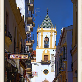 ronda spain, street by Jim Knoch - City,  Street & Park  Historic Districts