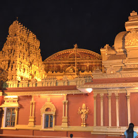 Gokarnanatheshwara Temple by Melba Bondad-Reantaso - Novices Only Landscapes ( gokarnanatheshwara temple, mangalore, stunningarchitecture, goldencolors, melba@mangalore )