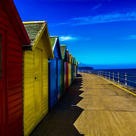 Whitby Beach Huts by Rob Willis - Buildings & Architecture Other Exteriors ( beachhut, sea, seaside, beach )