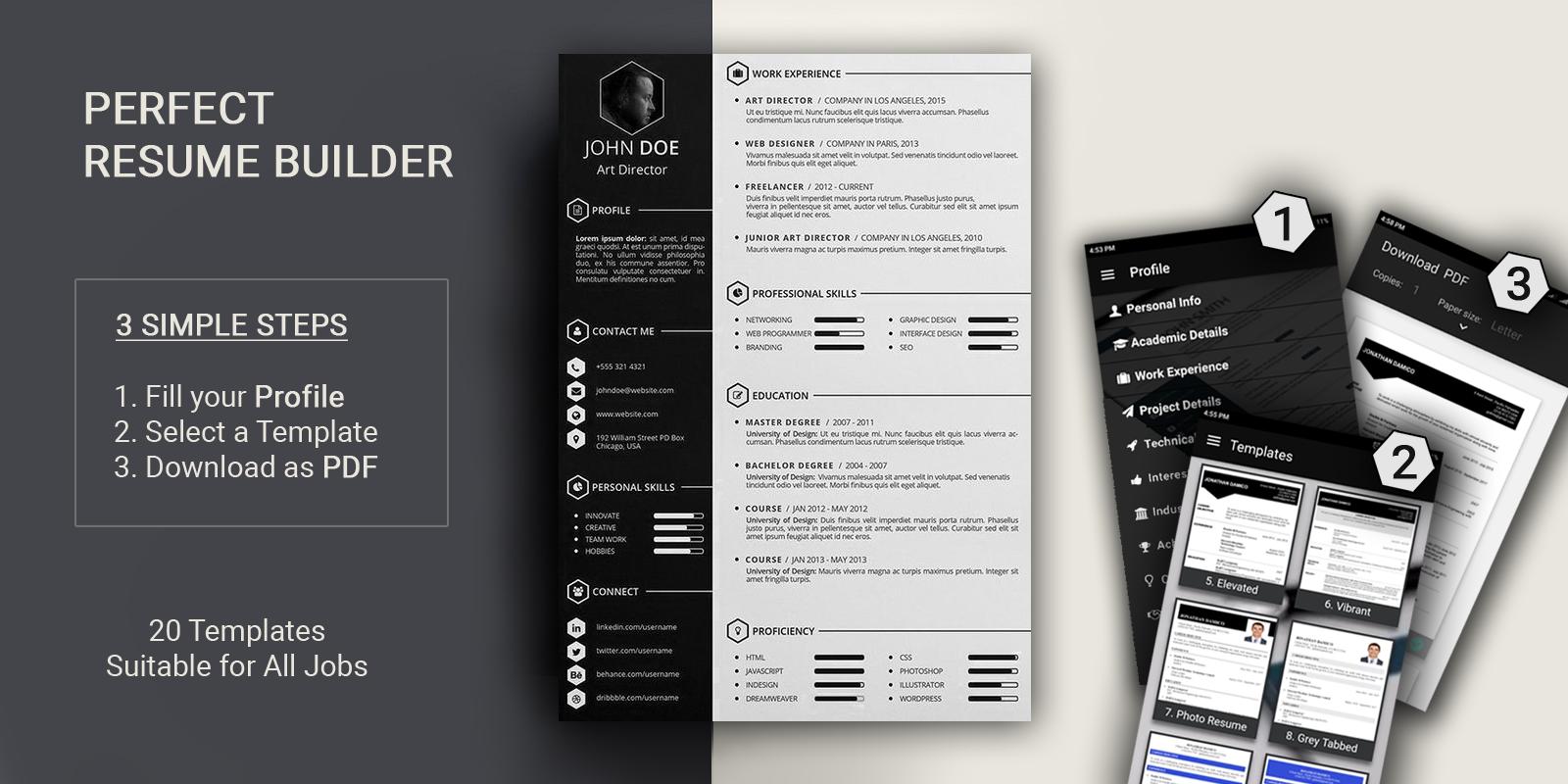 free resume builder pdf formats cv maker templates apkdada