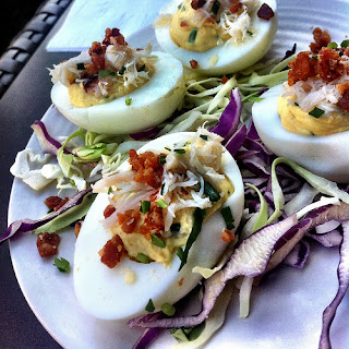 Bacon Topped Deviled Eggs