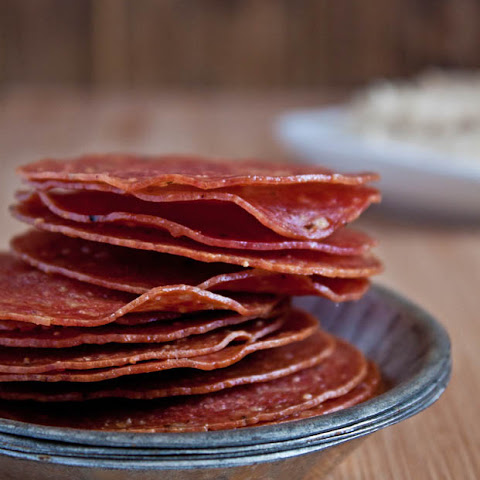 Salami Chips + White Bean Dip