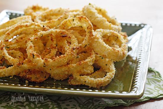 Low Fat Baked Onion Rings   Skinnytaste