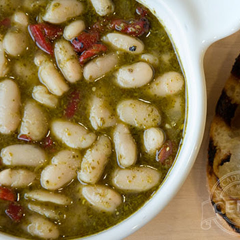 White Bean and Pesto Soup