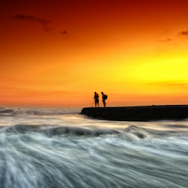 two by Raung Binaia - Landscapes Sunsets & Sunrises