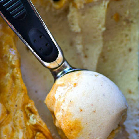No-Churn Caramel Swirl Banana Ice Cream
