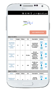 Early Tracker Childcare App - screenshot