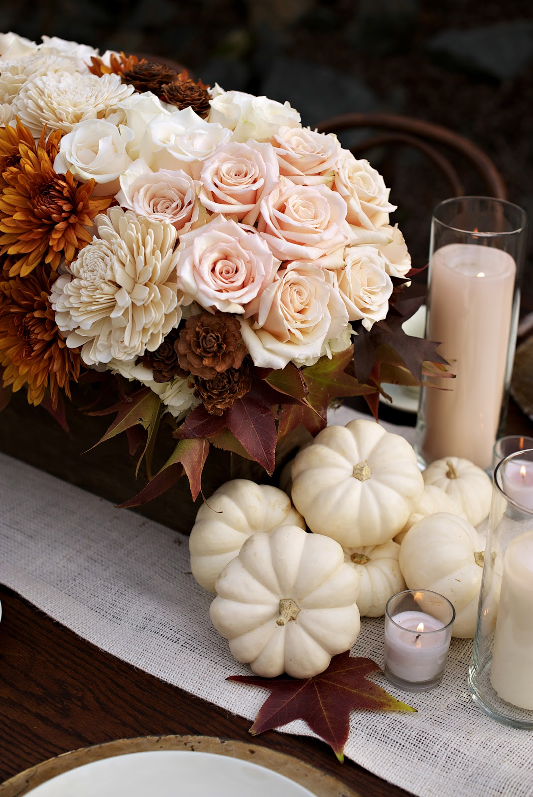autumn wedding centerpieces, Rehoboth beach wedding with