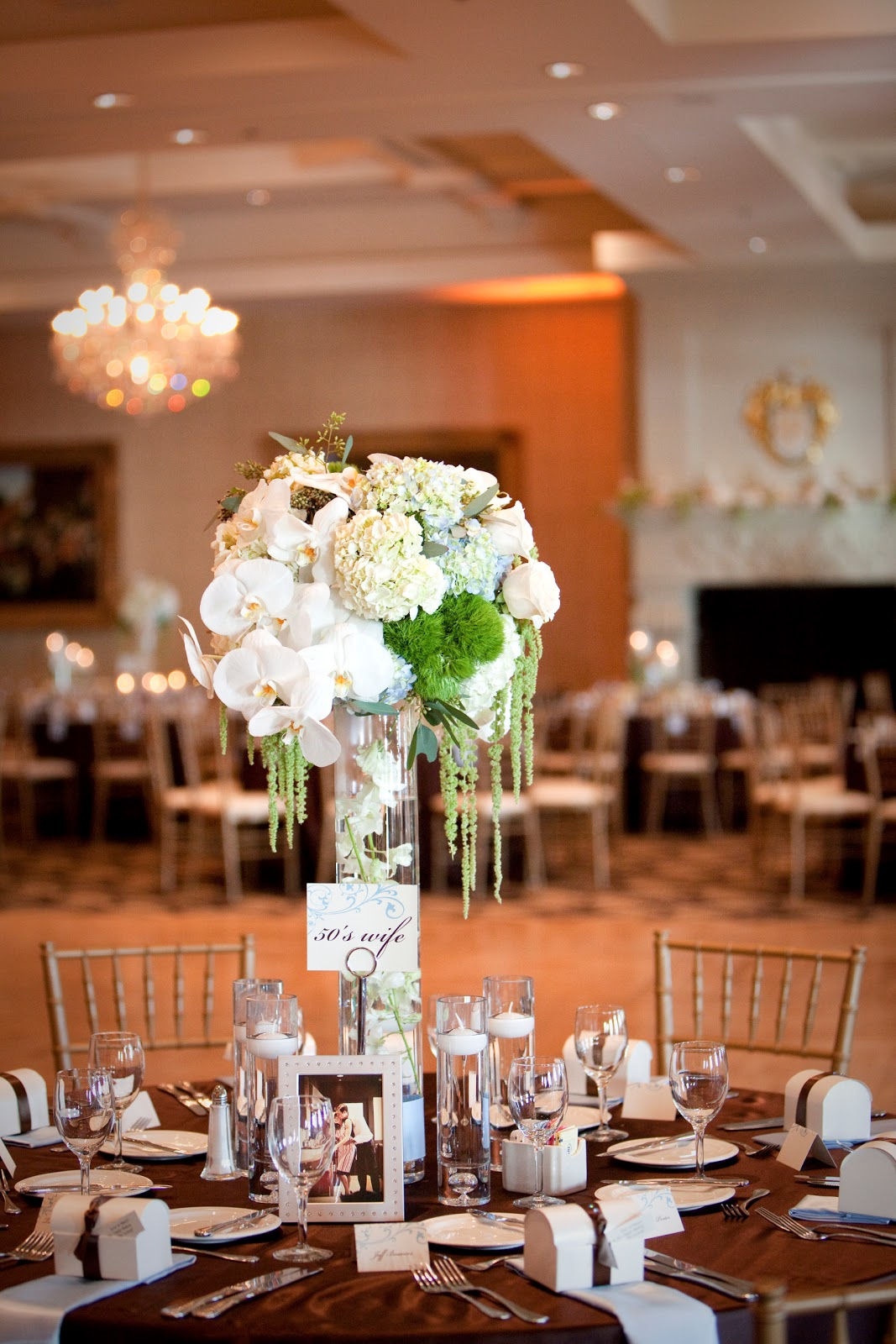 hydrangea centerpieces for