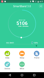 smart band Fitness app screenshot for Android